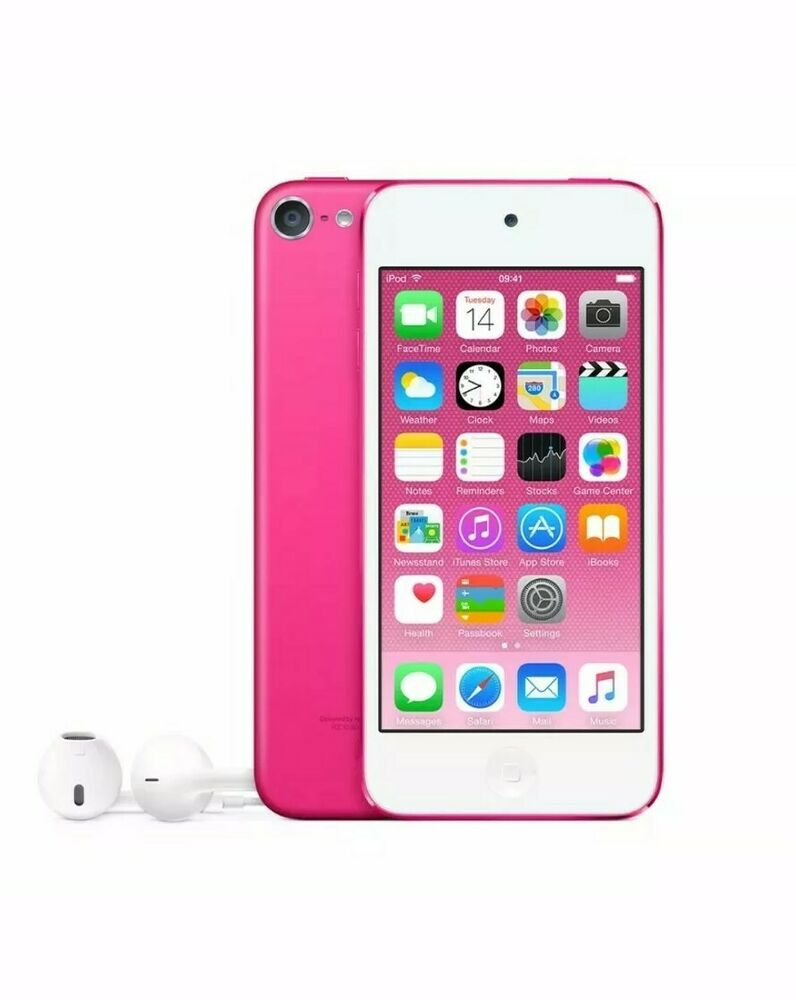 Brand New APPLE iPod Touch 6th Gen 32GB Pink Bundle + Cases