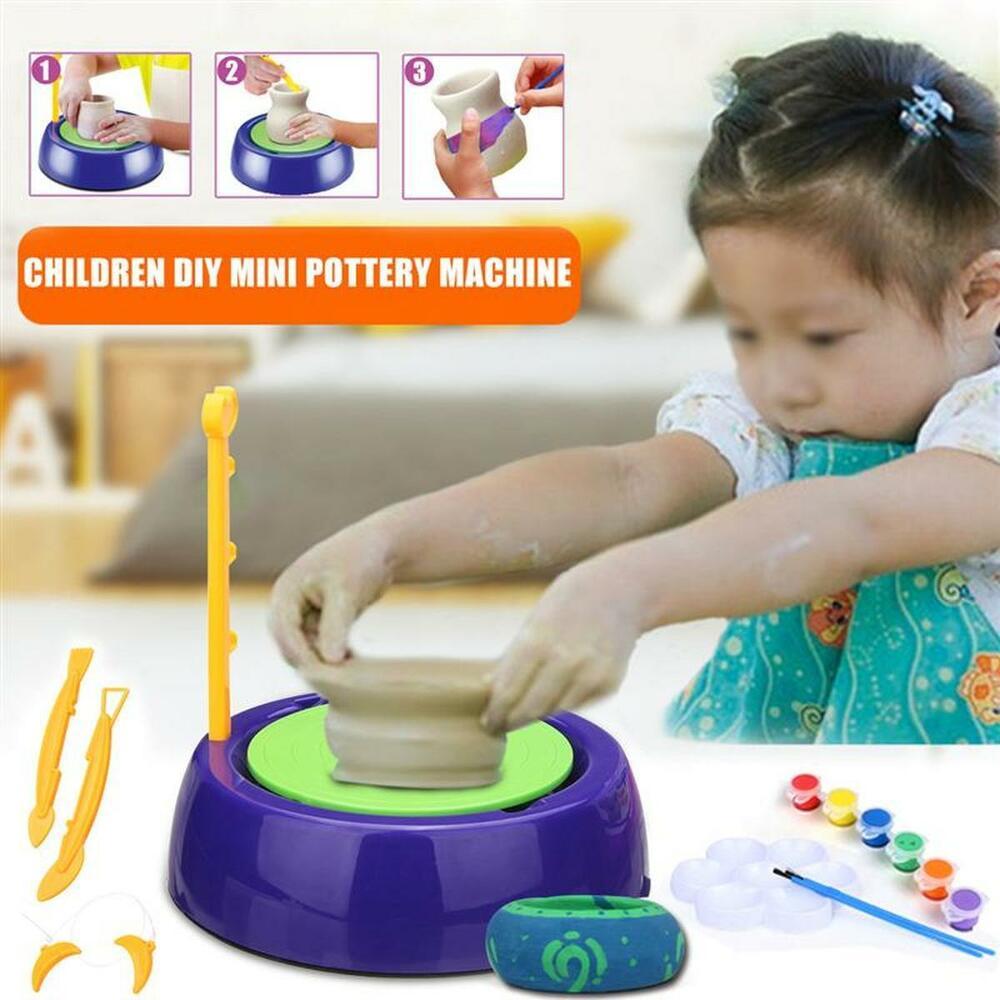 Handmake Ceramic Pottery Machine Toy Educational Mini Arts