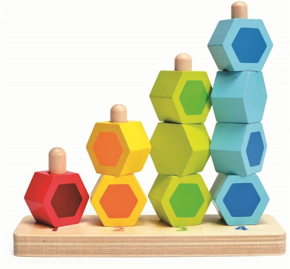 Hape COUNTING STACKER Pre-School Young Children Wooden Toy