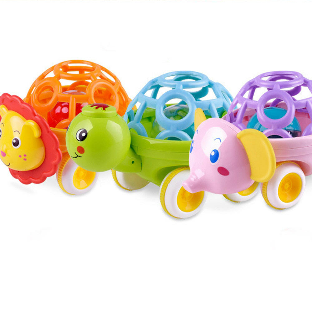 Lovely Baby Rattle Toys Cartoon Animal Hand Bell Toddler