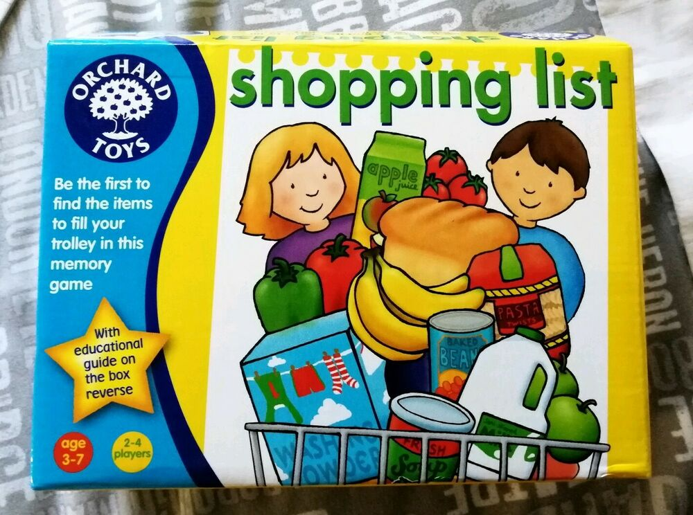 SHOPPING LIST Game by Orchard Toys