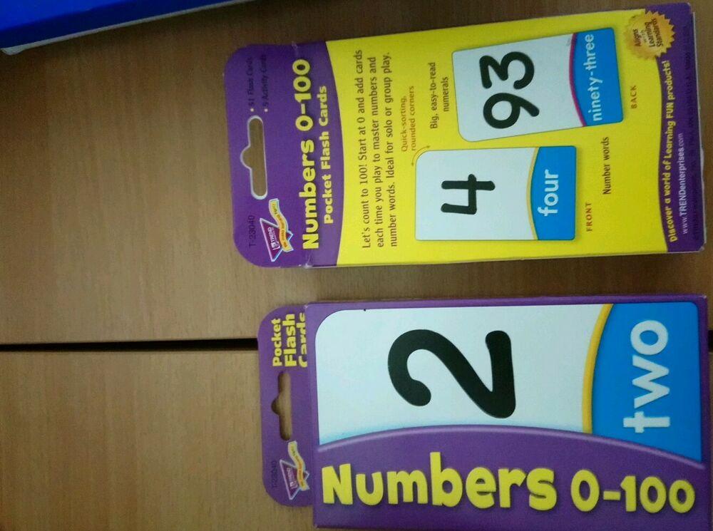 TREND kids childrens Math Numbers  Pocket Flash Cards