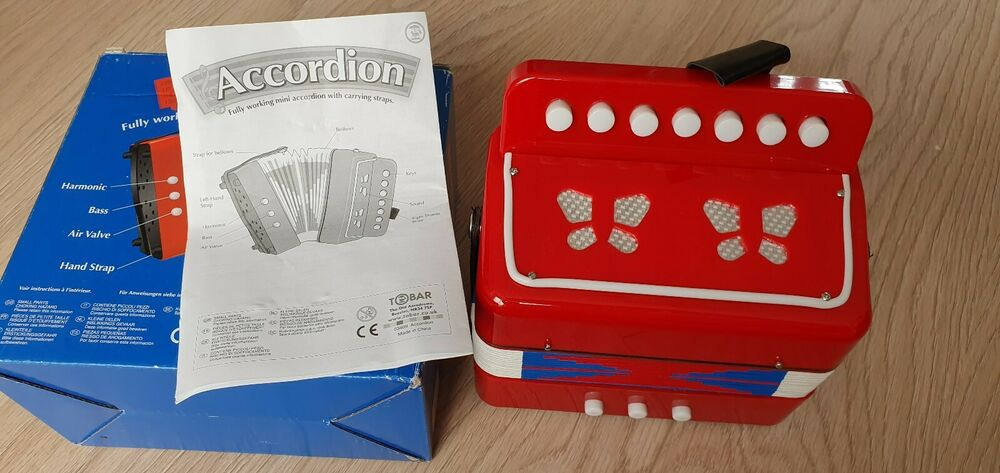 Tobar Accordion Plastic Toy With Canvas Bellows 18cm, 7