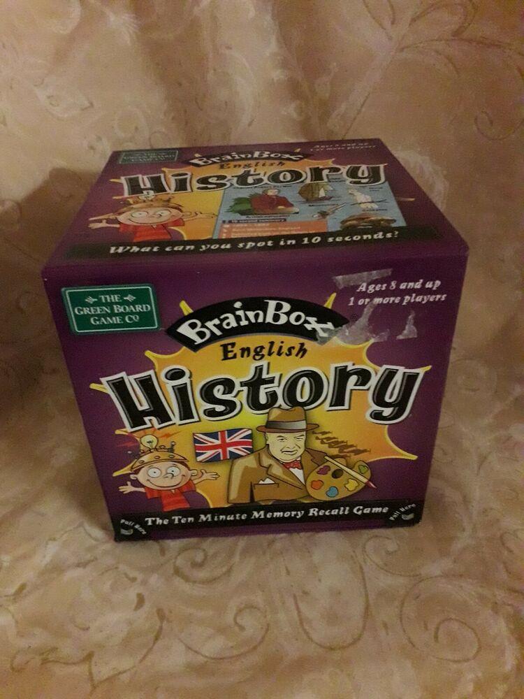 Used British History BrainBox Memory Game 10 minute brain
