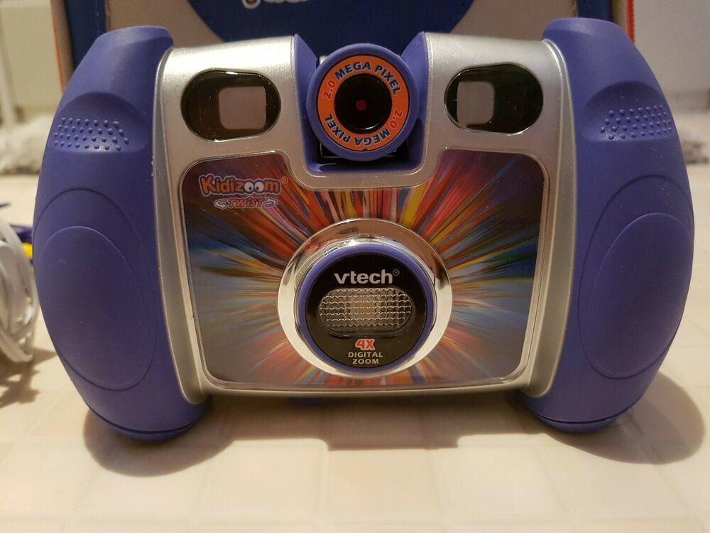Vtech Blue Kidizoom Twist 2MP 4 X Zoom Digital Camera And