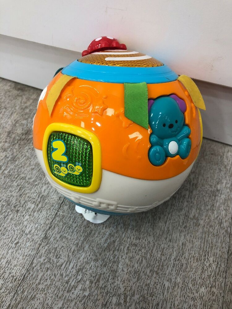 Vtech Crawl And Learn Bright Lights Ball Baby Toy - Orange.