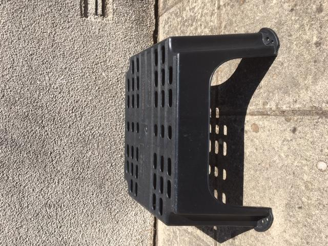 Black Sturdy Plastic Step with large stand area.