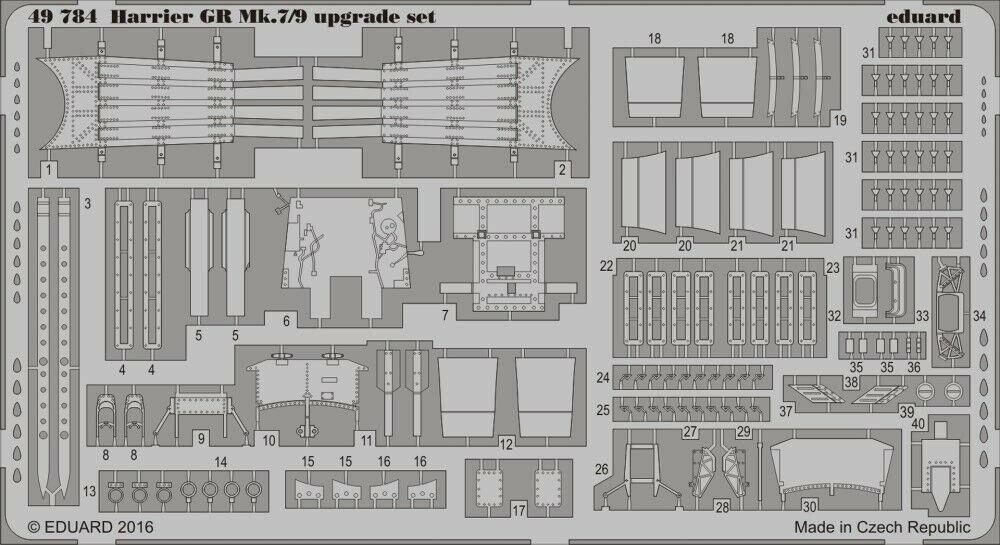 EDP - Eduard P-etch 1:48 - Harrier GR Mk.7/9 Upgrade