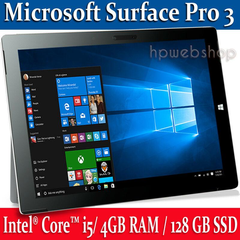 Microsoft Surface Pro GB SSD 4GB RAM Intel Core i5 up