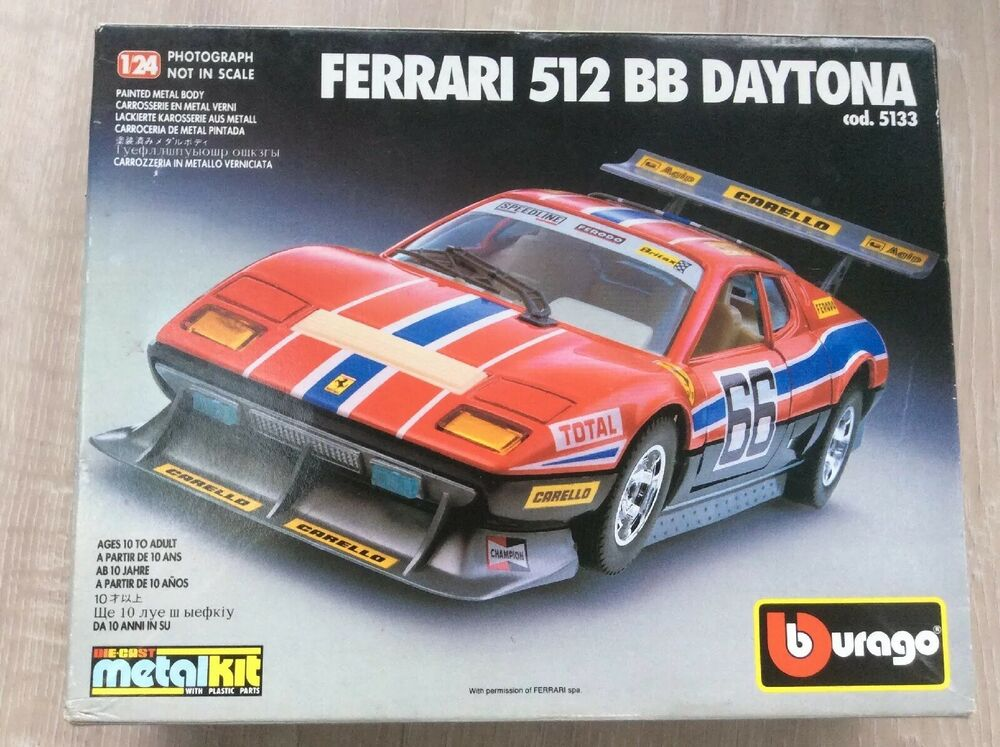 Vintage Burago  Ferrari 512 BB Daytona Metal Kit