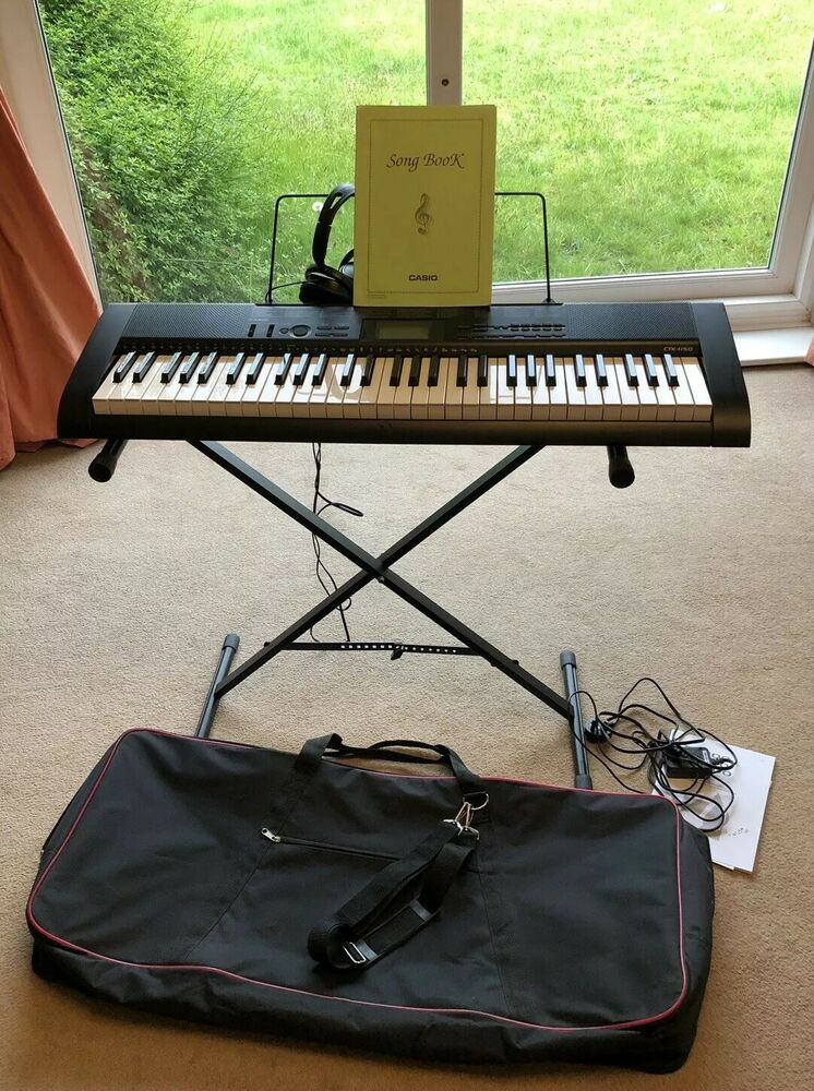 Casio CTK- Electronic Keyboard, Case, Stand, Music Book,