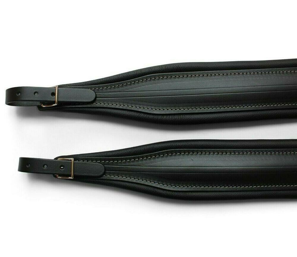 Deluxe Italian all Leather accordion straps + backstrap
