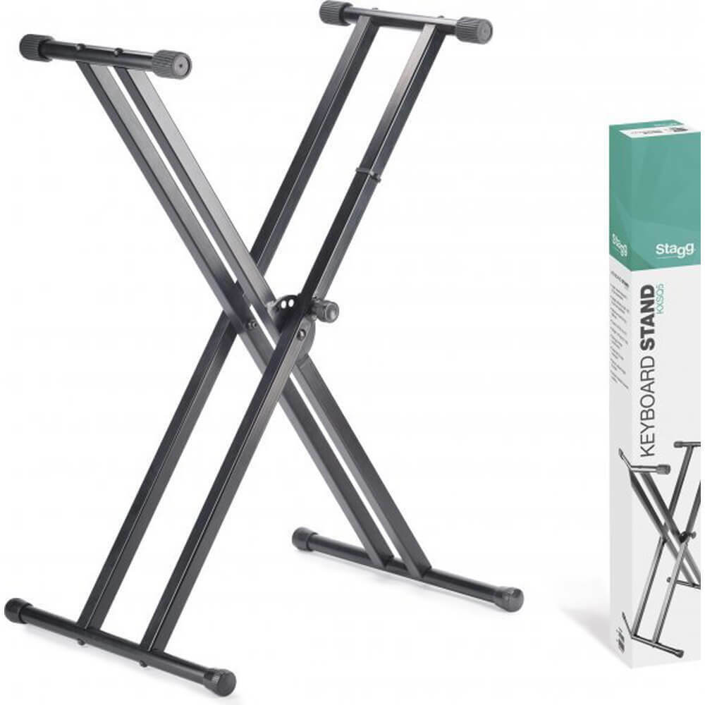 Stagg KXSQ5 Double Braced X-Style Keyboard Stand - To Be