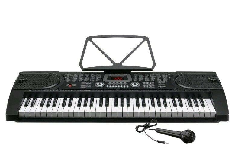 Zennox 61 Key Keyboard LCD Screen w/ Built in speakers 128