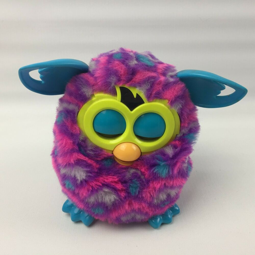 FAULTY Furby Boom Pink/Purple Interactive Talking Electronic