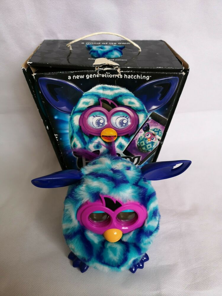 HASBRO Blue Turquoise Pattern Furby Boom Waves Interactive