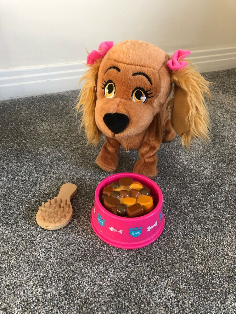 Lucy The Dog Interactive Puppy With Food Bowl & Brush