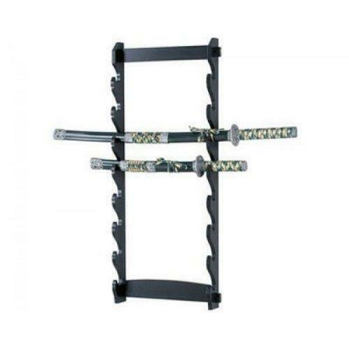 Sword Stand 8 Tier Wall Mounted Swords Display Stand Martial