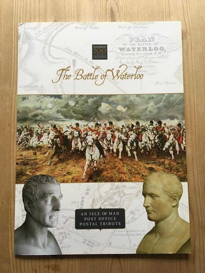 The Battle of Waterloo postal tribute in collectable folder