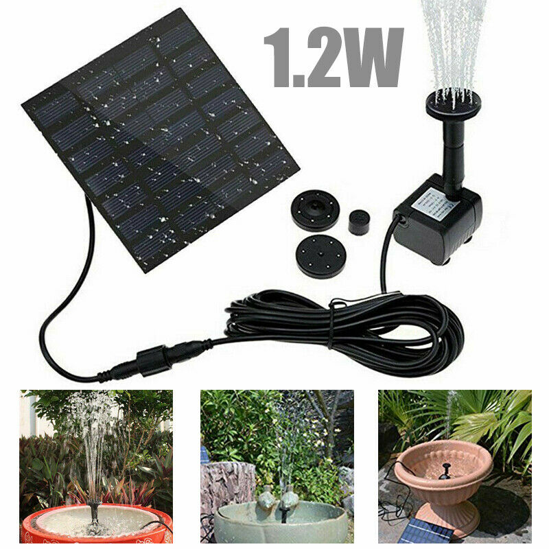 200L/H Solar Panel Powered Water Pump Garden Pool Pond Fish