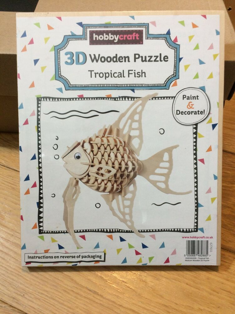 3D Wooden Puzzle Tropical Fish by Hobbycraft BRAND NEW