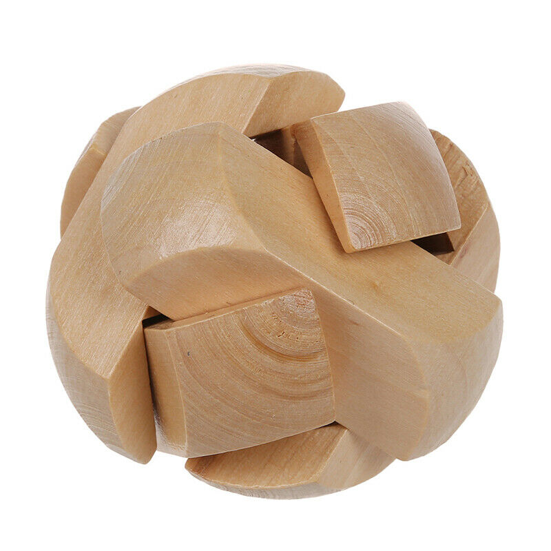 Children Brain Training Toy Wooden Football Kongming Lock