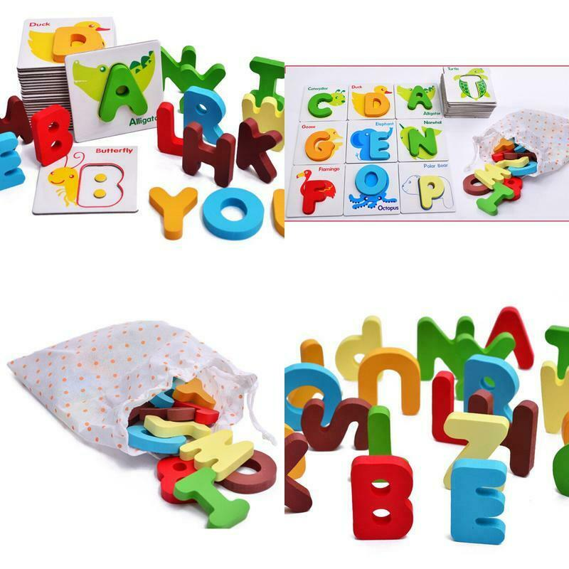 Children Educational Puzzle Toy Baby Preschool ABC Alphabet