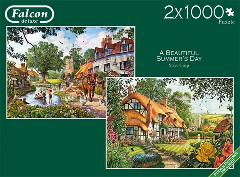 Falcon - 2 X  PIECE JUMBO JIGSAW PUZZLES - A Beautiful