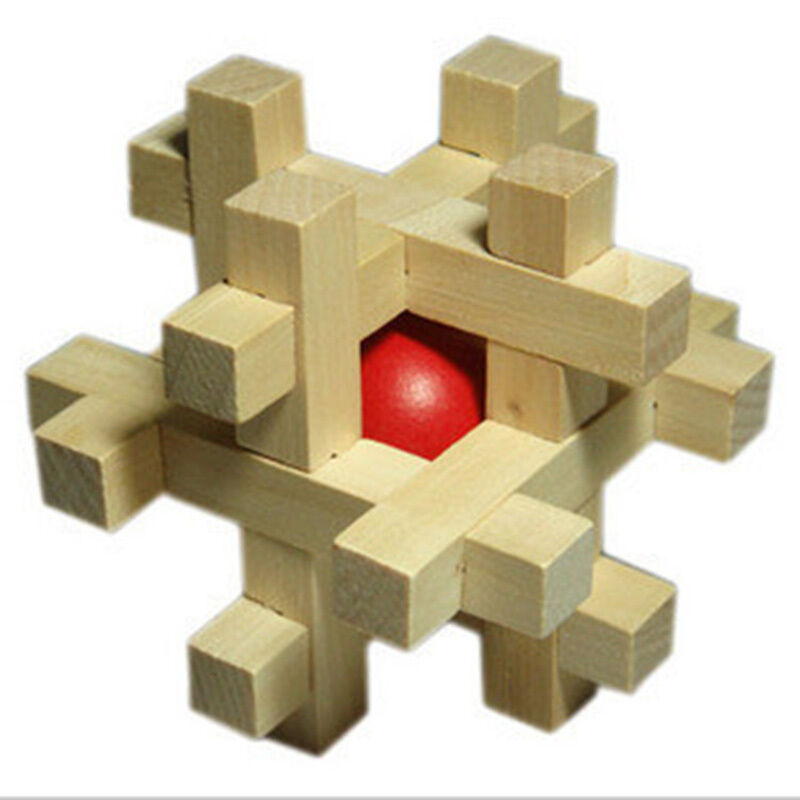Fashion Adult Puzzle Toy SnakeCube Wooden Brain Teaser Take