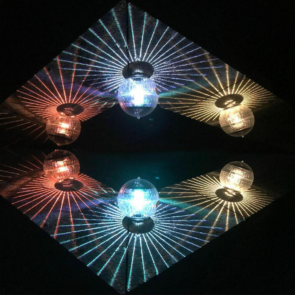Floating Underwater RGB LED Light Solar Power Swimming Pool