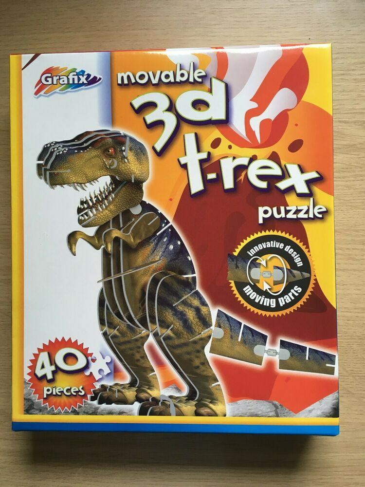 Grafix 3D Movable T-Rex Dinosaur Puzzle