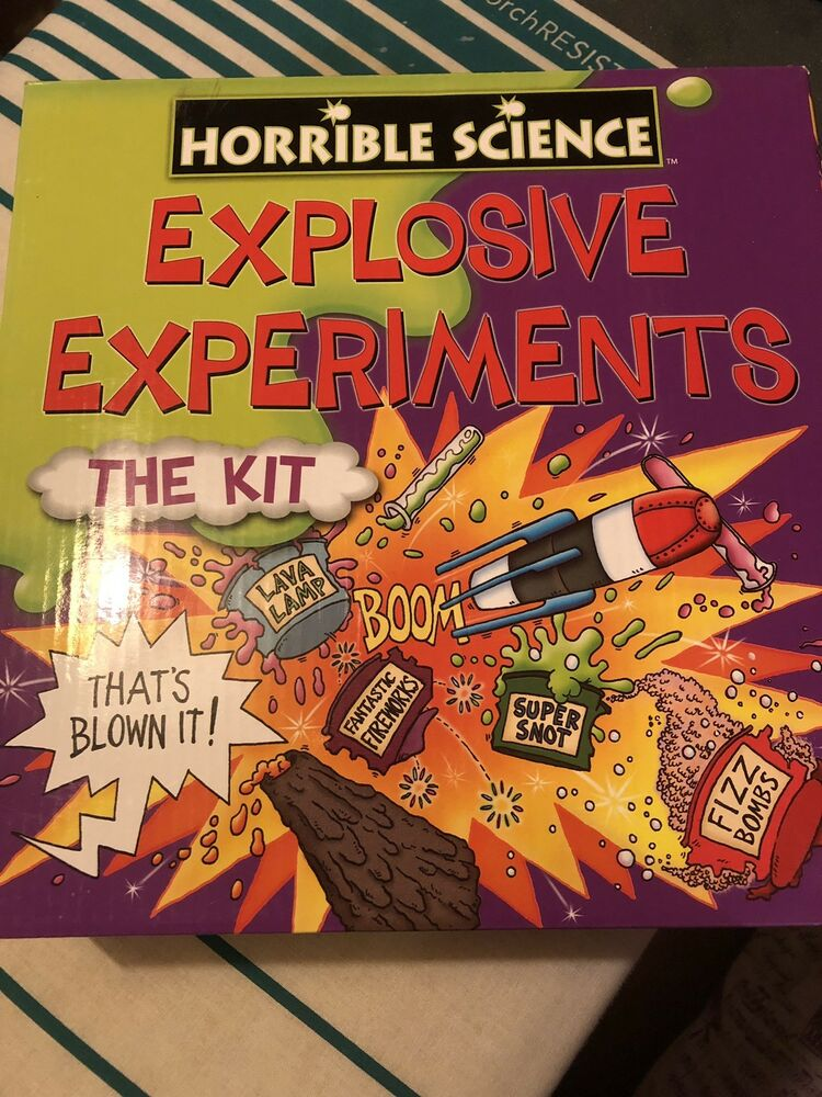 Horrible Science Explosive Experiments The Kit BRAND NEW