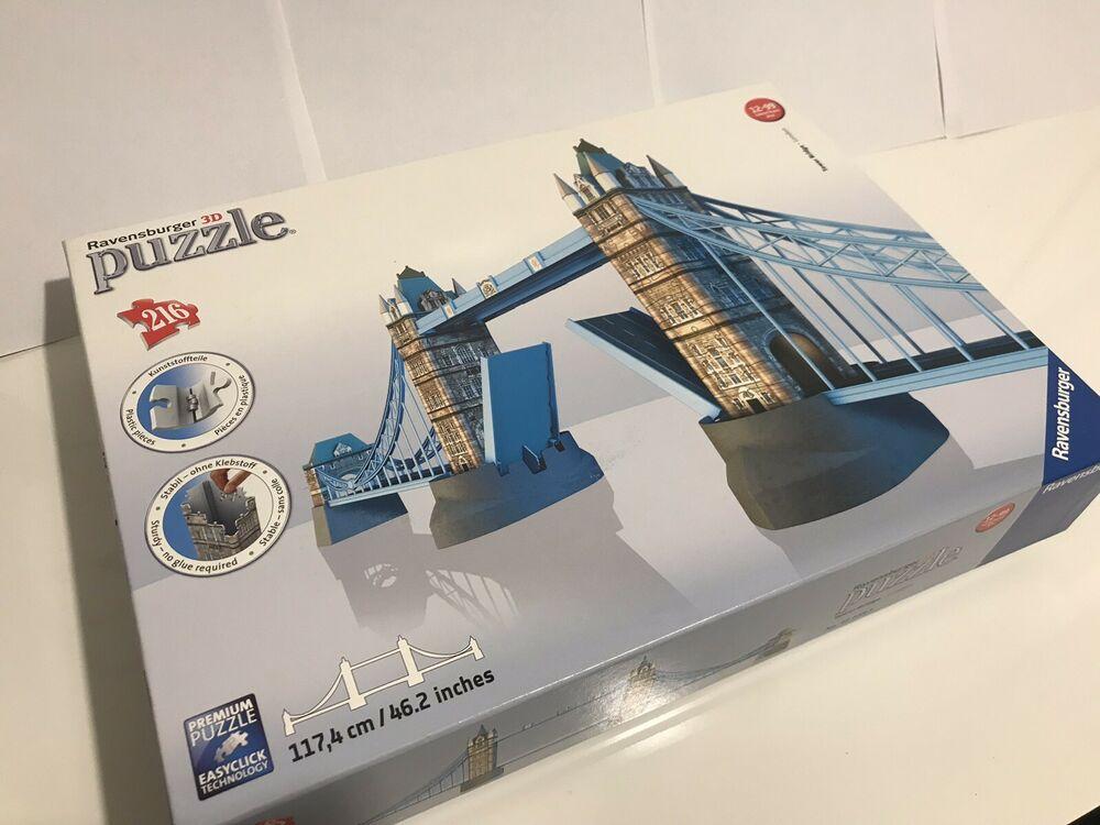 LIMITED TIME! Ravensburger 3D Tower Bridge Premium Puzzle