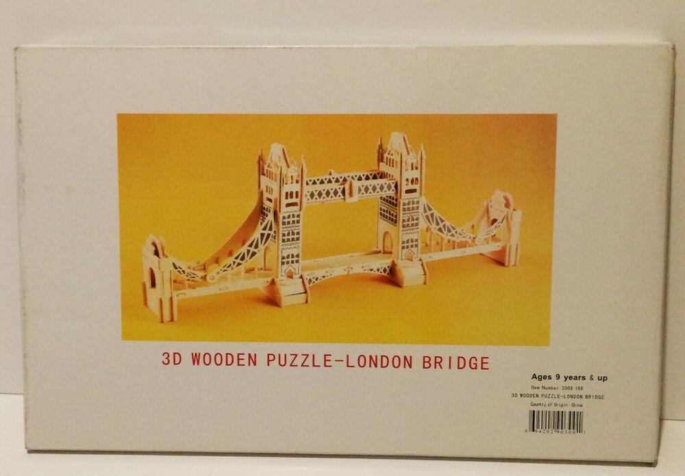 London Bridge 3D Wooden Jigsaw Puzzle Construction Kit