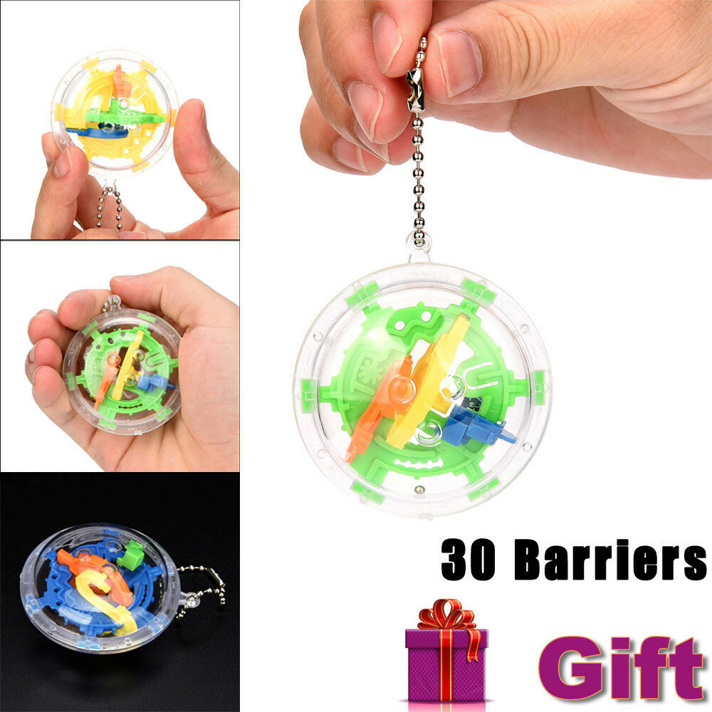 Mini Ball Maze Intellect 3d Puzzle Toy Balance Barrier Magic