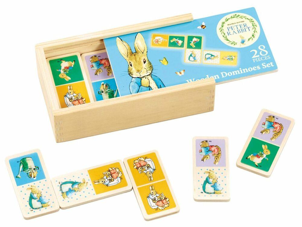 Rainbow Designs PETER RABBIT WOODEN DOMINOES SET Baby Toys