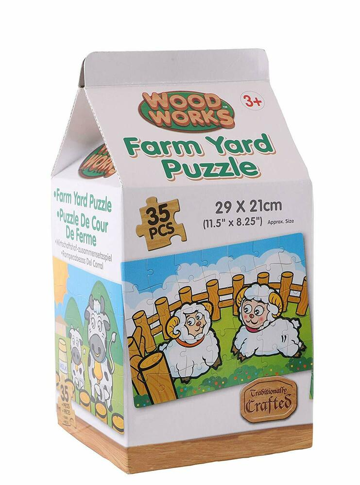 Wood Works Farmyard Puzzle 35 Pc Set - HL358-ANY