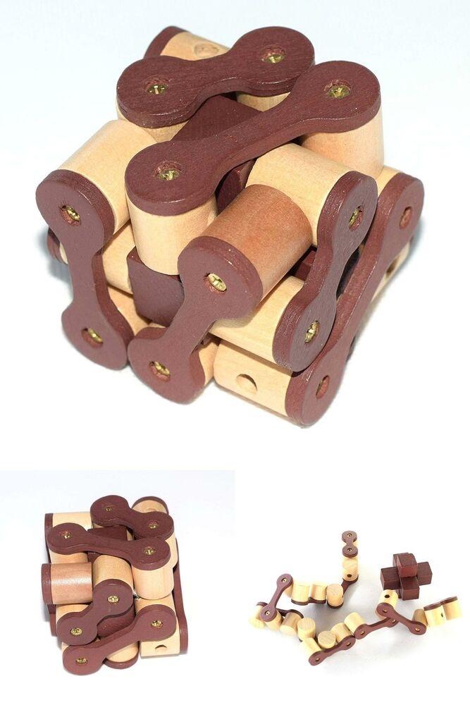 Wooden Brain Teaser Puzzle 3D Interlocking Wood Jigsaw Games