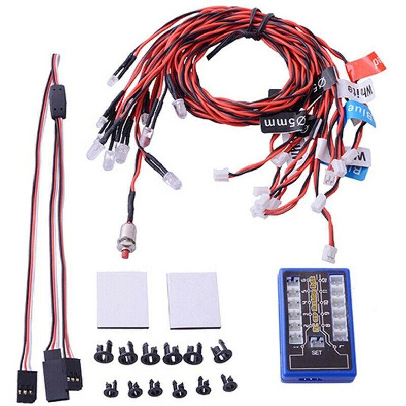 1X(New Highlight 12 Led Flashing Light System For Rc Car