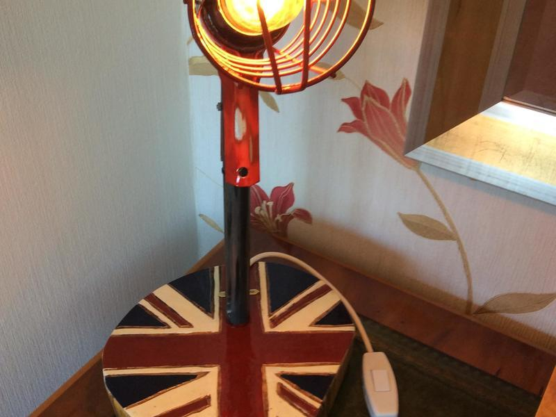 Hand made Union Flag Lamp.