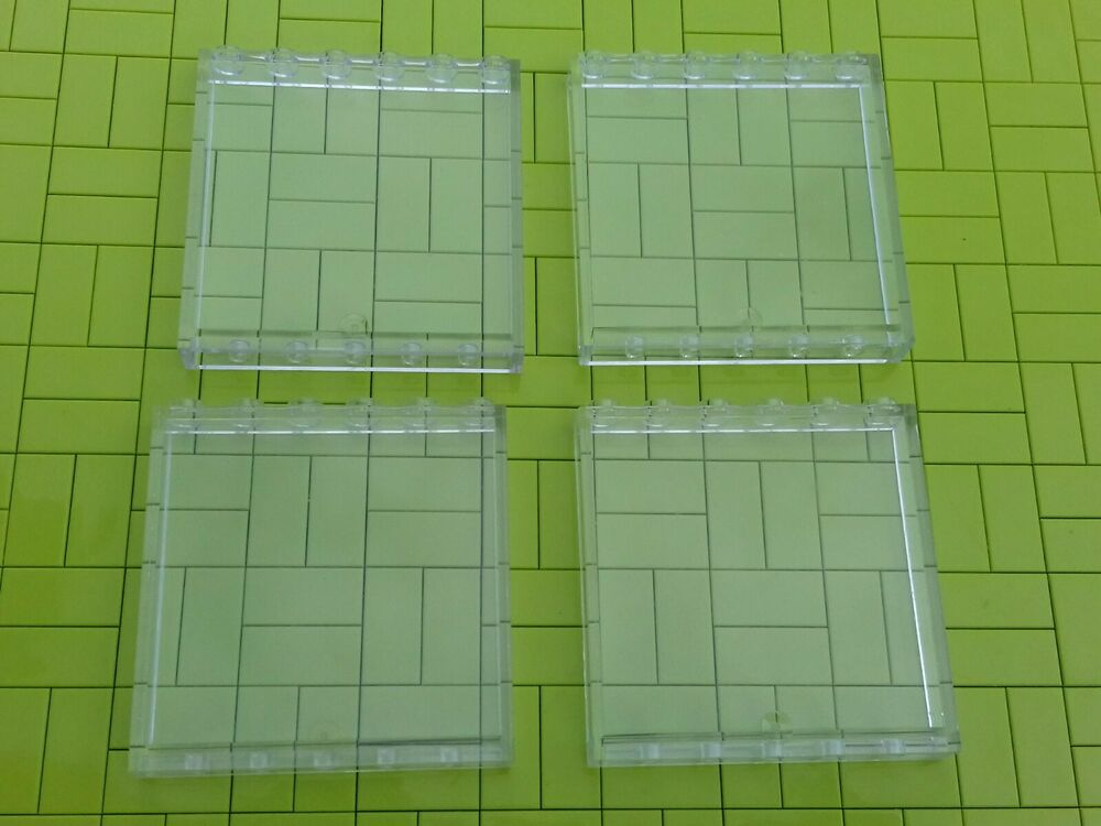 LEGO - 4 x TRANS CLEAR WALL PANEL 1x6x - FRIENDS TOWN