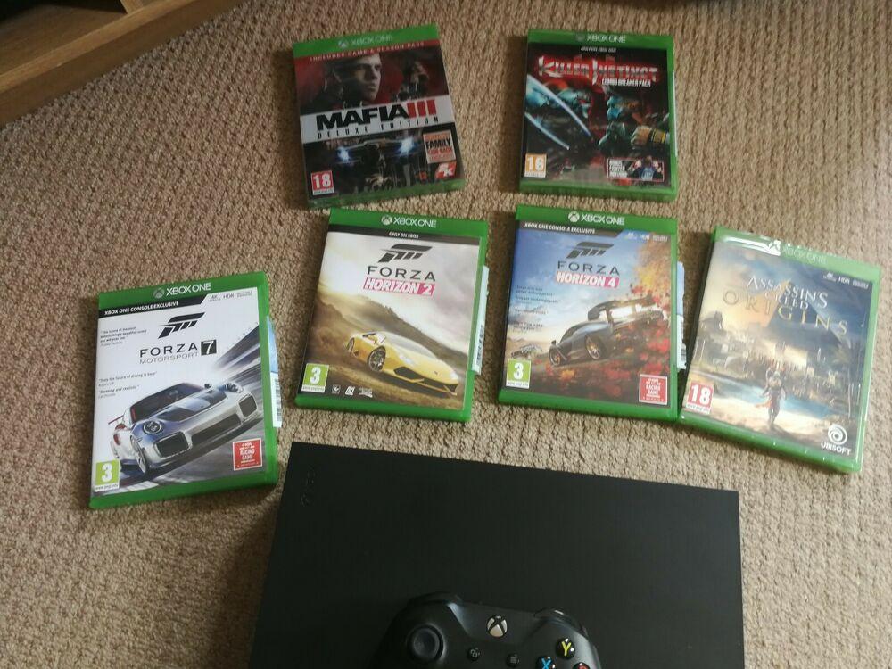 Microsoft Xbox One X GB Black Console
