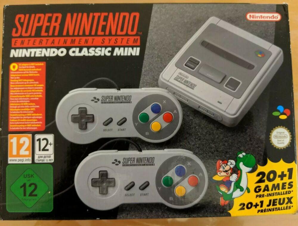 Nintendo Super NES Classic Edition Mini Home Console - Grey