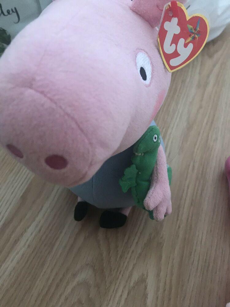 Peppa Pig George Plush Soft Toy, Dinosaur, Ty Beanie Babies