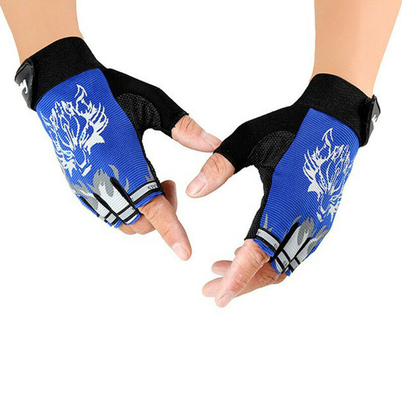 1X(Outdoor Children'S Glove Ride Sport Fingerless Non-Slip