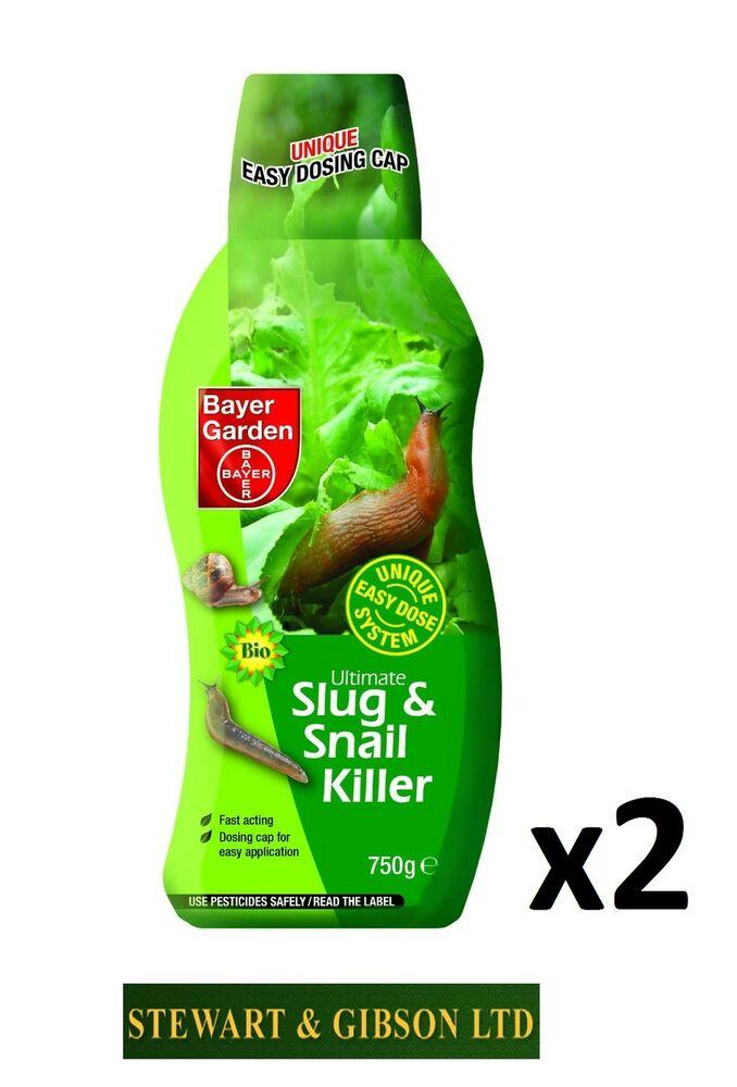 2 x Bayer Garden 750g (1.5kg) Ultimate Slug and Snail Killer