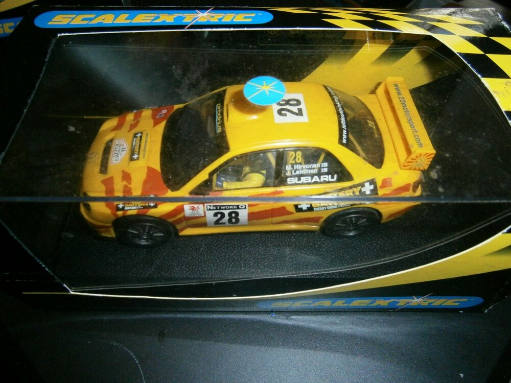 Boxed Scalextric Subaru Impreza WRC Rally Car Battery +