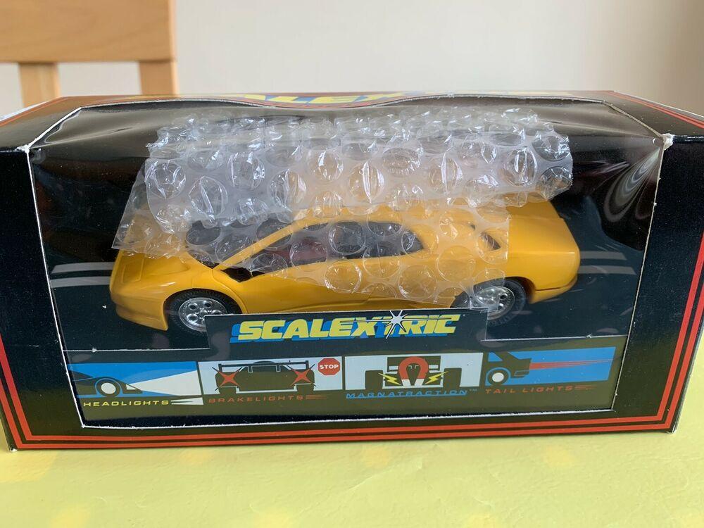 New Boxed Scalextric Lamborghibi Diablo Yellow C.127