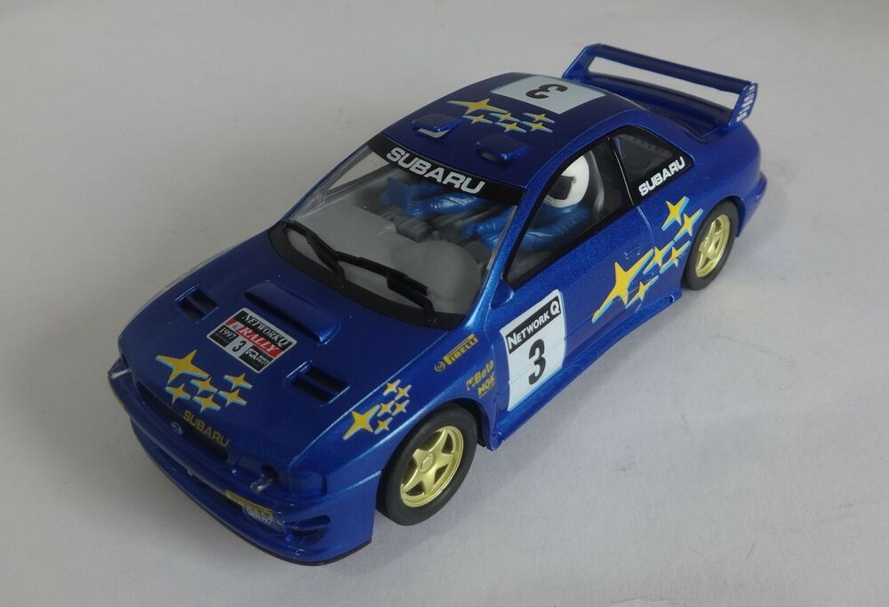 Scalextric C Subaru Impreza WRC No.3 Blue Very Good