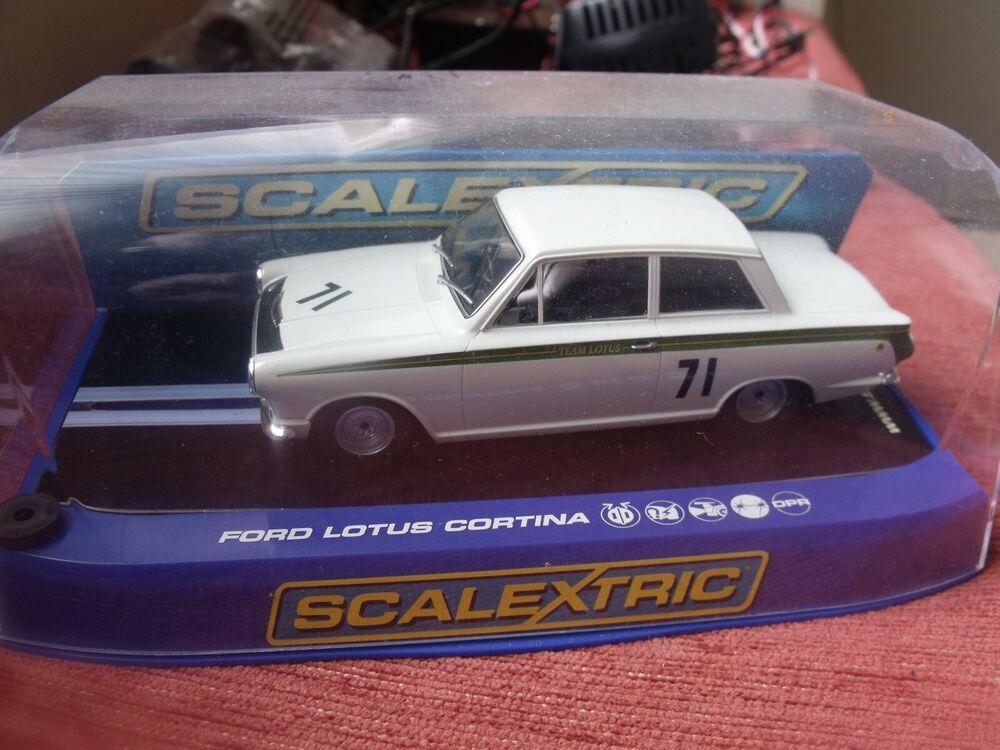 Scalextric Rare Ford Lotus Cortina No71 Jim Clark C Car
